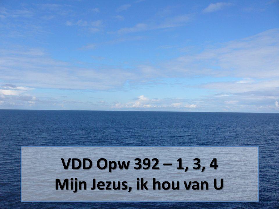VDD Opw 392 – 1, 3, 4 Mijn Jezus, ik hou van U