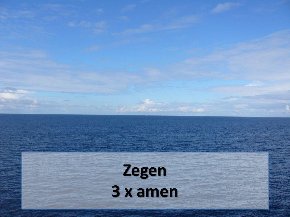 Zegen 3 x amen
