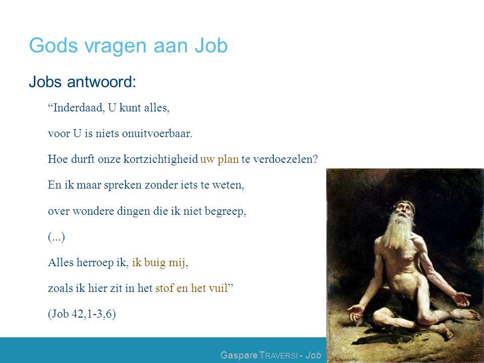 Gods vragen aan Job Jobs antwoord: Inderdaad, U kunt alles, voor U is niets onuitvoerbaar.