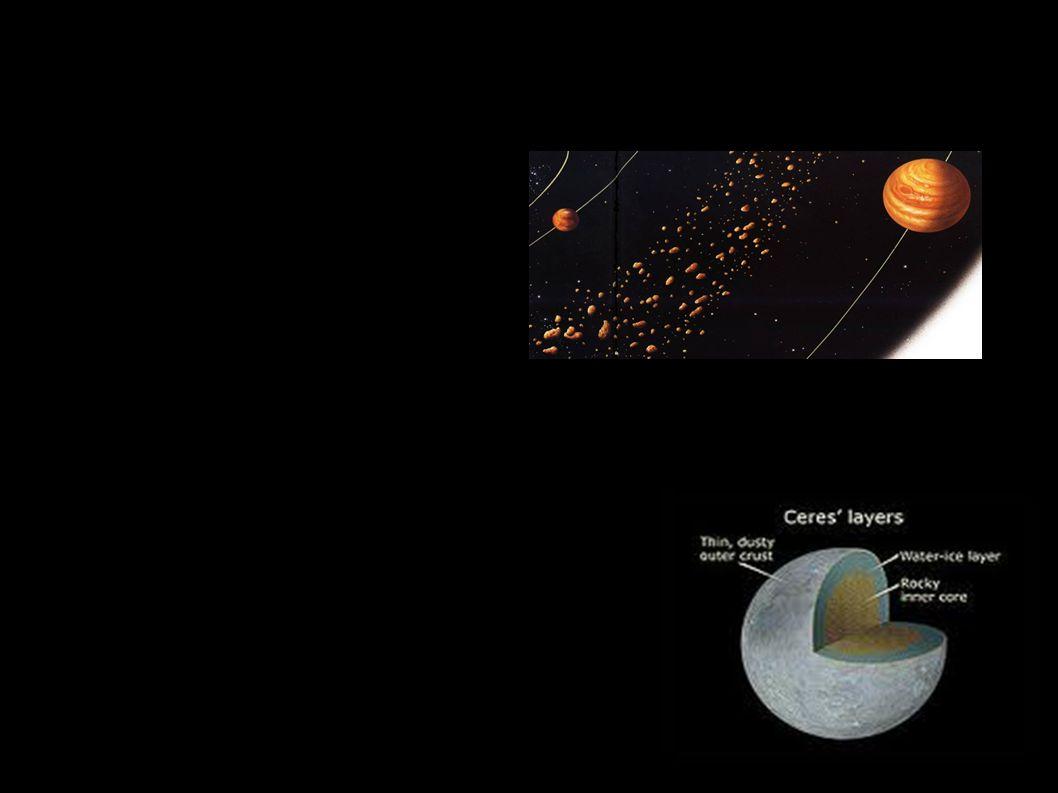● Verzamelen zich voornamelijk in de asteroïdengordel tussen Jupiter en mars ● Grootste Asteroïde is Ceres (975km) Ceres is dan ook het eerst ontdekt in 1801