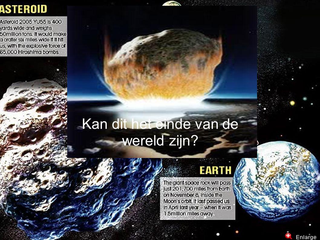 Bronnen ● http://members.home.nl/keesdebrouwer/heelal/20_asteroiden.htm http://members.home.nl/keesdebrouwer/heelal/20_asteroiden.htm ● http://www.slideshare.net/thibaultvdb/asteroiden http://www.slideshare.net/thibaultvdb/asteroiden ● www.hln.be/.../Asteroide-schiet-tussen-Aarde-en-maan-door.dhtml www.hln.be/.../Asteroide-schiet-tussen-Aarde-en-maan-door.dhtml ● http://yu55.net/ http://yu55.net/ ● http://news.yahoo.com/city-block-size-asteroid-2005-yu55-buzz-earth-122806716.html http://news.yahoo.com/city-block-size-asteroid-2005-yu55-buzz-earth-122806716.html