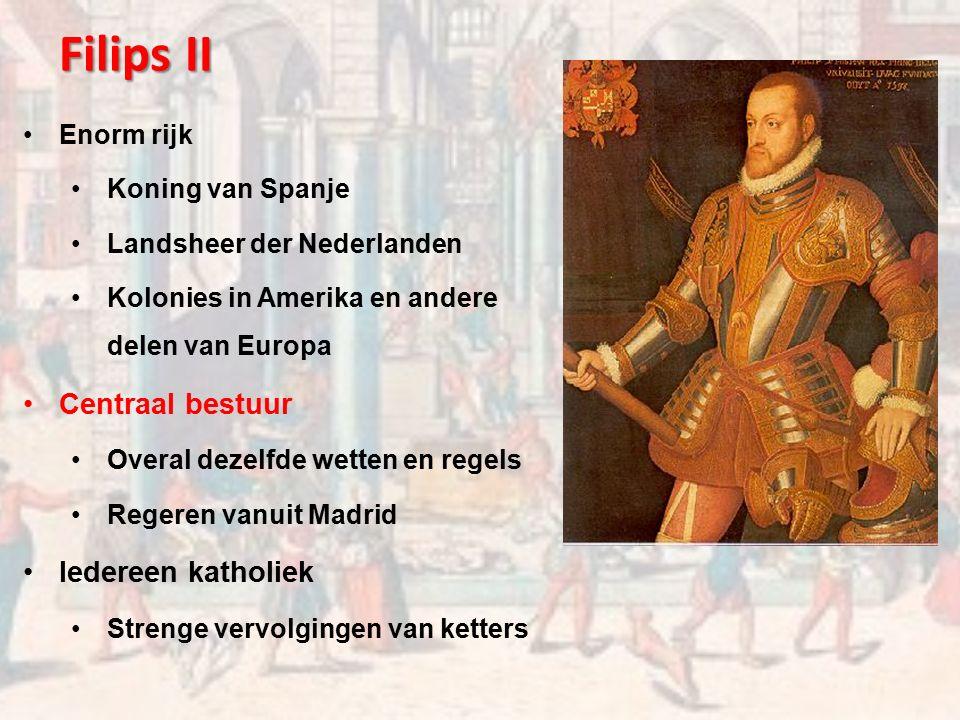 Bestuur in de Nederlanden Landsheer der Nederlanden = koning van Spanje (Madrid) Landvoogd der Nederlanden (Brussel) Stadhouder (gewest) 17 gewesten