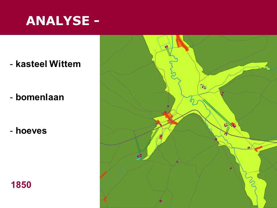 ANALYSE - 1850 - kasteel Wittem - bomenlaan - hoeves
