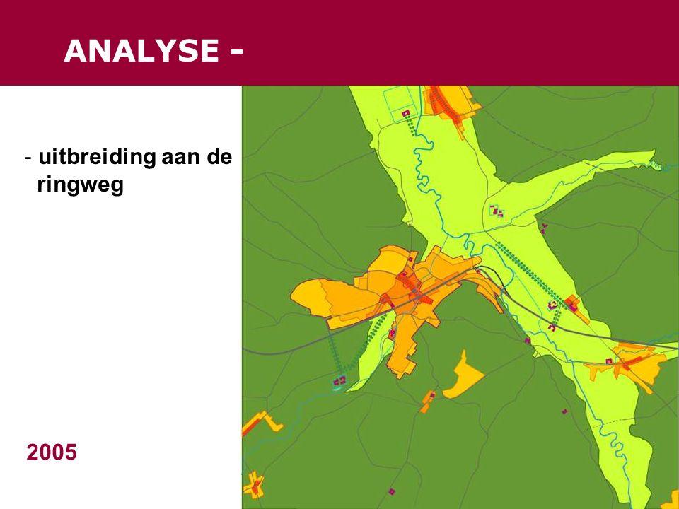 ANALYSE - 2005 - uitbreiding aan de ringweg