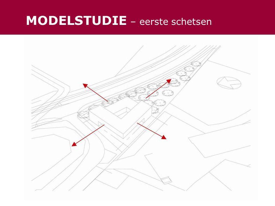 MODELSTUDIE – eerste schetsen