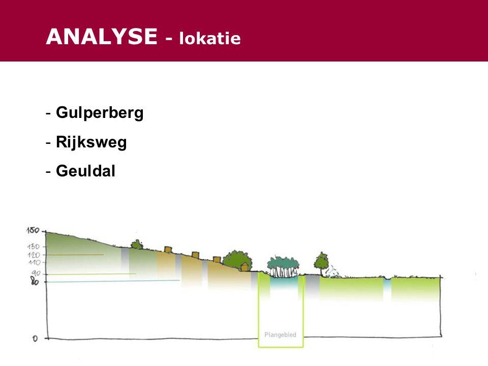 ANALYSE - lokatie - Gulperberg - Rijksweg - Geuldal