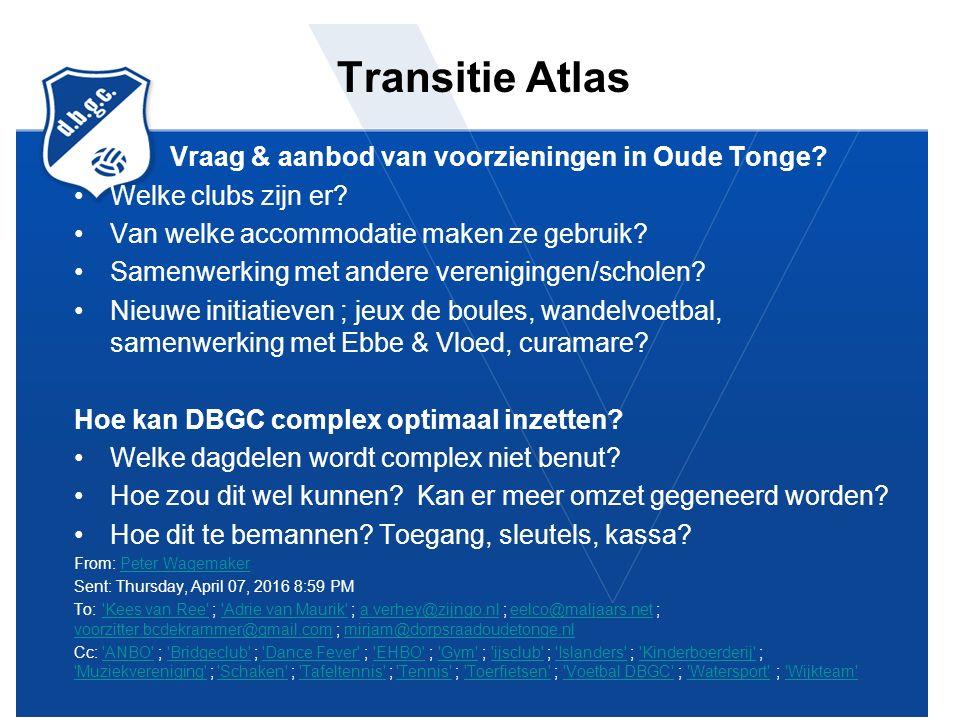 Transitie Atlas Vraag & aanbod van voorzieningen in Oude Tonge.