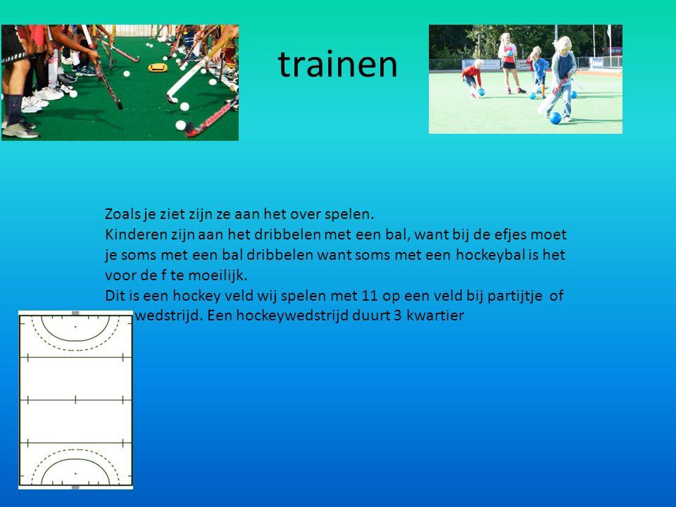 Zaalhockey.