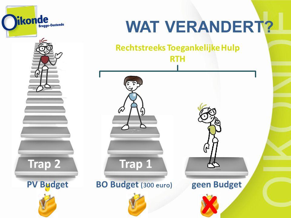 x Rechtstreeks Toegankelijke Hulp RTH Trap 2 Trap 1 PV Budget BO Budget (300 euro) geen Budget