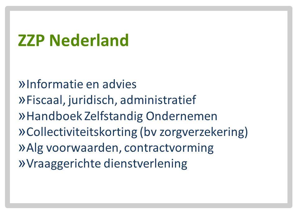 ZZP Nederland  Informatie en advies  Fiscaal, juridisch, administratief  Handboek Zelfstandig Ondernemen  Collectiviteitskorting (bv zorgverzekeri
