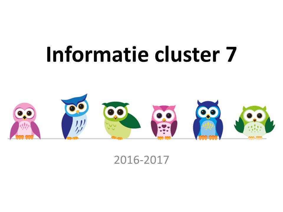 Informatie cluster 7 2016-2017