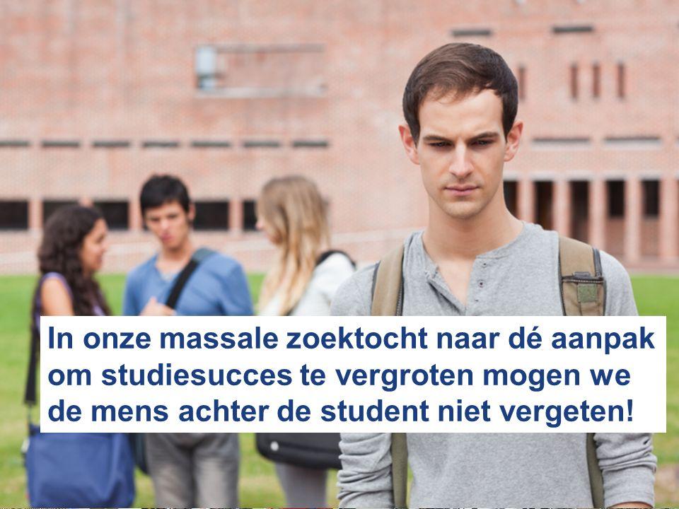 In onze massale zoektocht naar dé aanpak om studiesucces te vergroten mogen we de mens achter de student niet vergeten!
