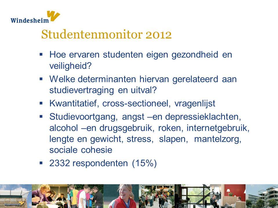 Studentenmonitor 2012  Hoe ervaren studenten eigen gezondheid en veiligheid.