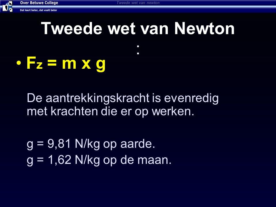 Isaac Newton's 3 de wet Als een voorwerp een kracht uitoefent op een tweede voorwerp dan oefent dat voorwerp een kracht uit op het eerste voorwerp Derde wet van Newton