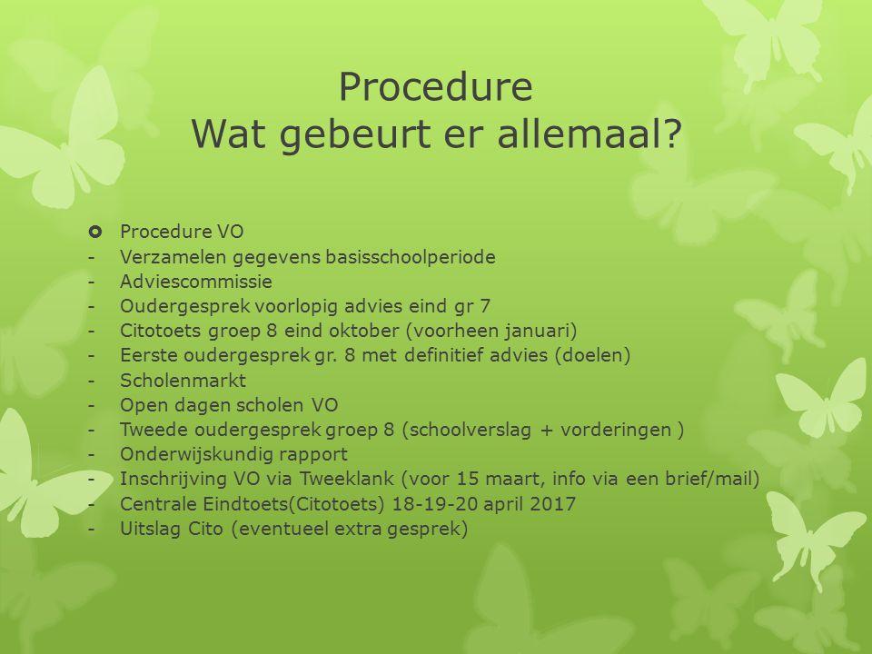 Procedure Wat gebeurt er allemaal.