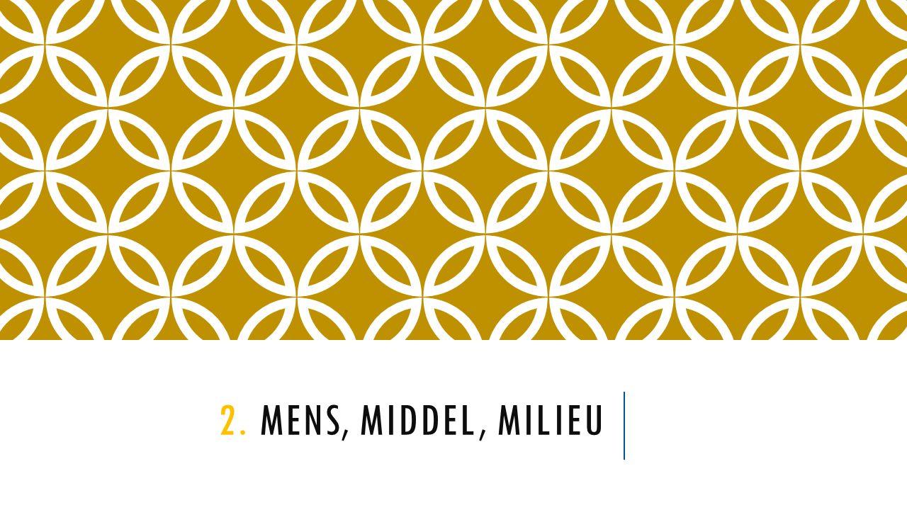 2. MENS, MIDDEL, MILIEU