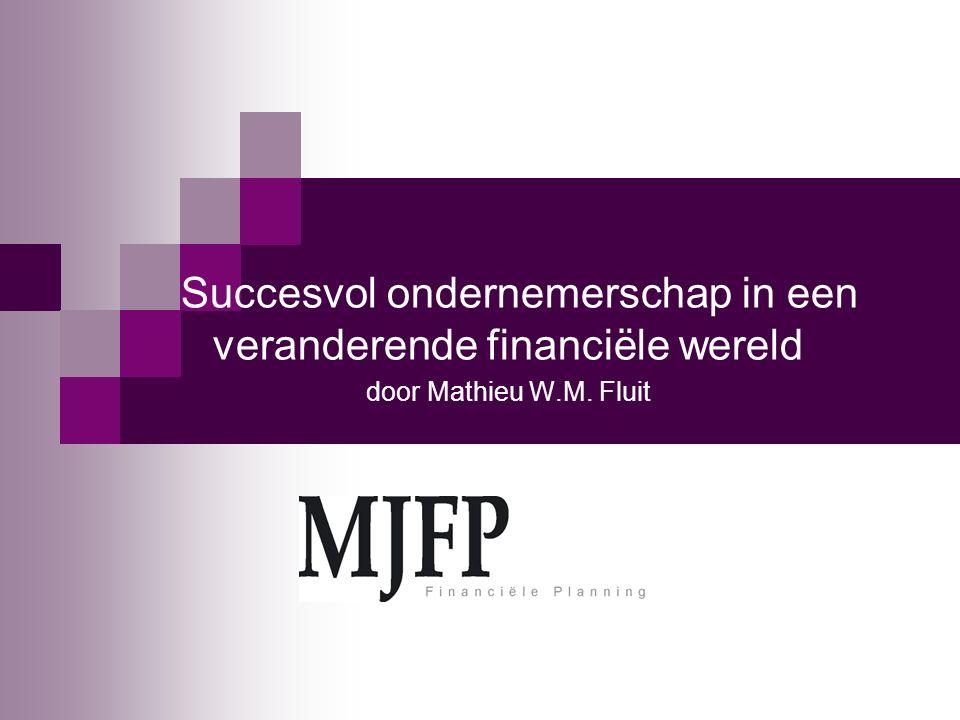 Succesvol ondernemerschap in een veranderende financiële wereld door Mathieu W.M. Fluit
