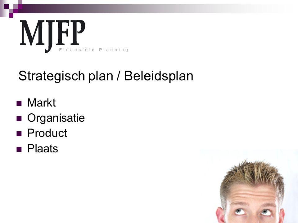 Strategisch plan / Beleidsplan Markt Organisatie Product Plaats
