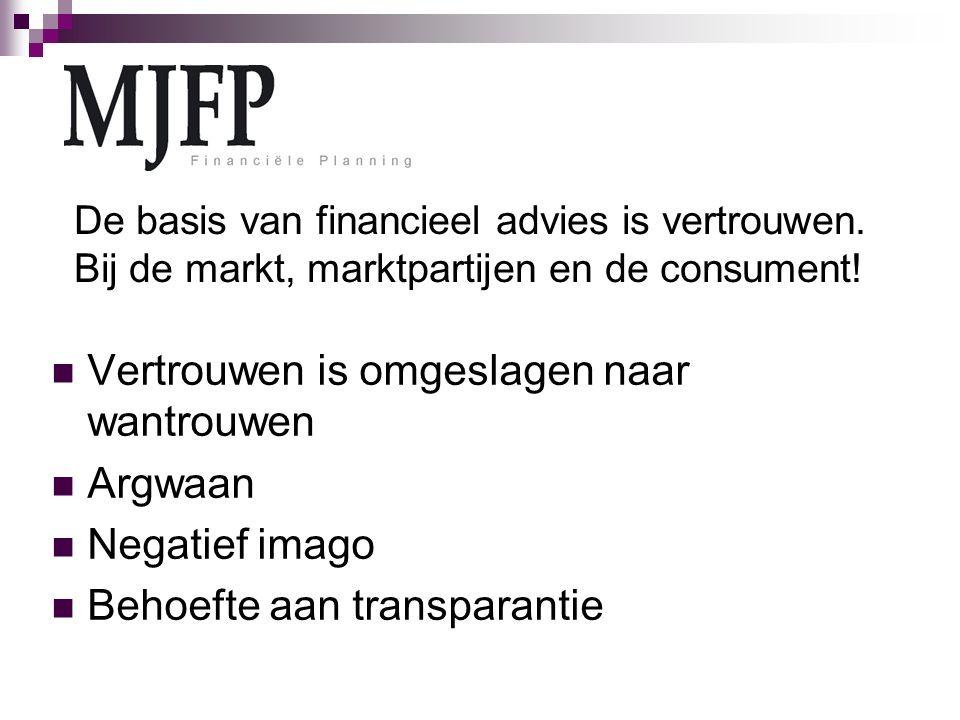 De basis van financieel advies is vertrouwen. Bij de markt, marktpartijen en de consument.