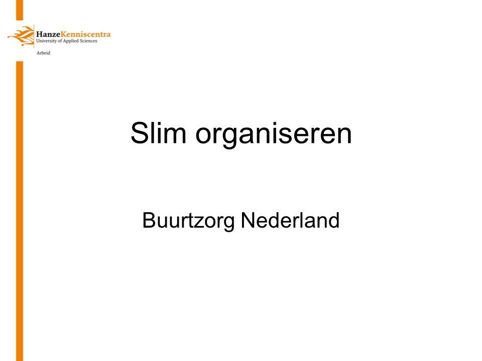 Slim organiseren Buurtzorg Nederland