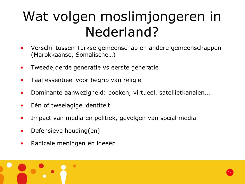 Wat volgen moslimjongeren in Nederland.