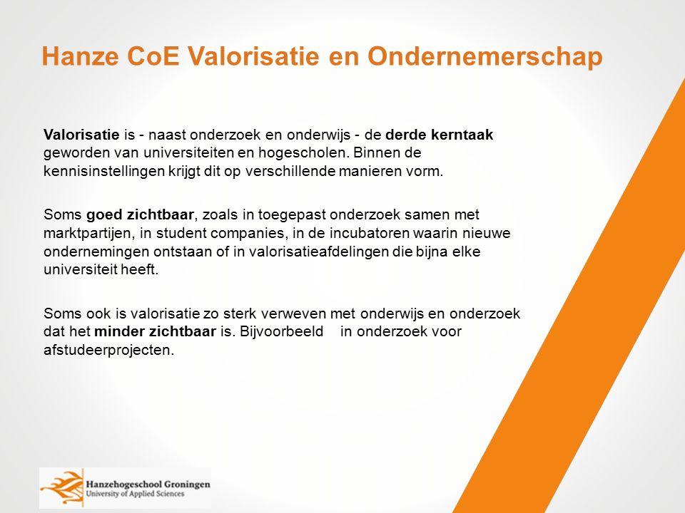 Consortium Valorisatie & Ondernemerschap Randvoorwaarden Gedeelde visie en ondersteuning van de doelstellingen door alle kennispartners Helder en consistent intellectueel eigendomsbeleid van alle partners Ondersteunende beoordeling en beloning, c.q.