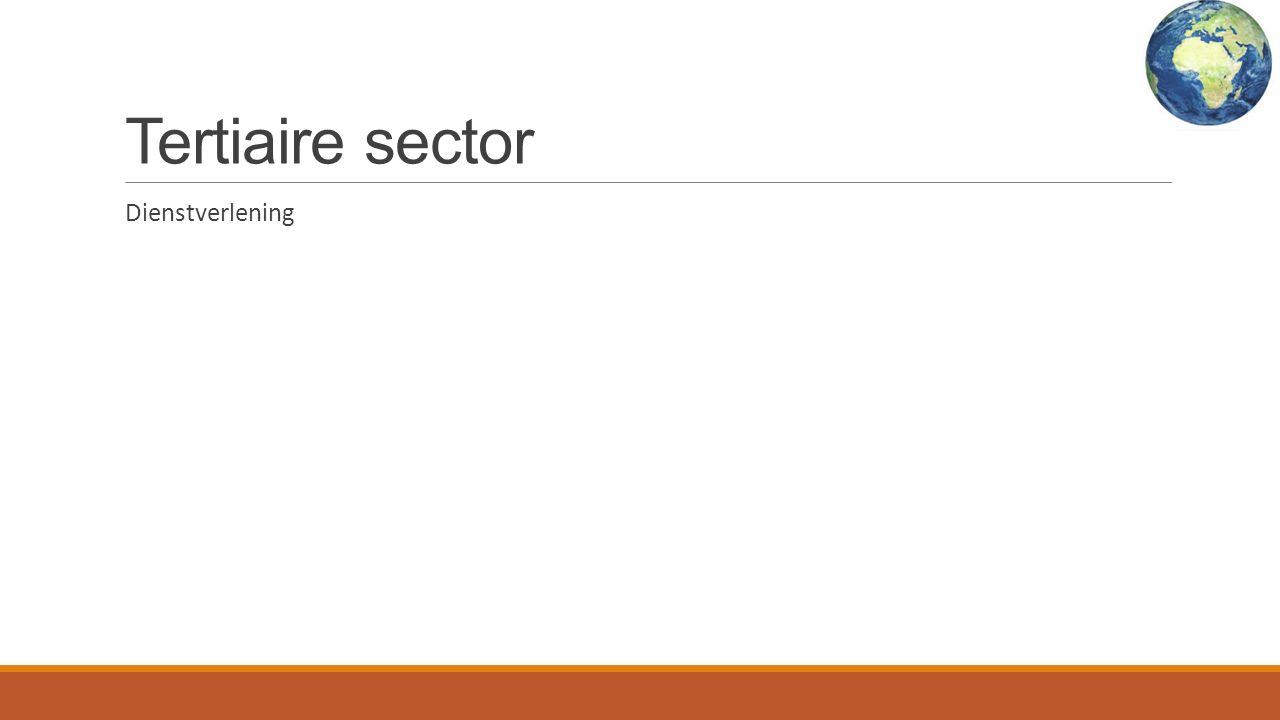 Tertiaire sector Dienstverlening