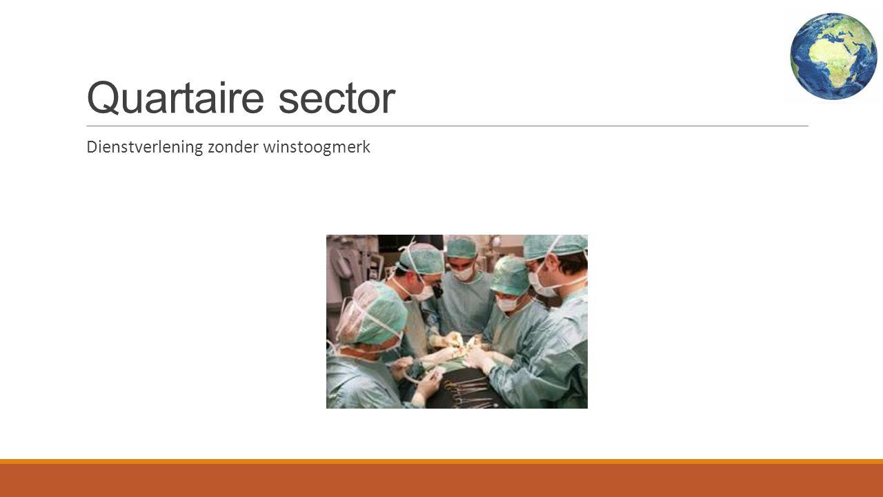 Quartaire sector Dienstverlening zonder winstoogmerk
