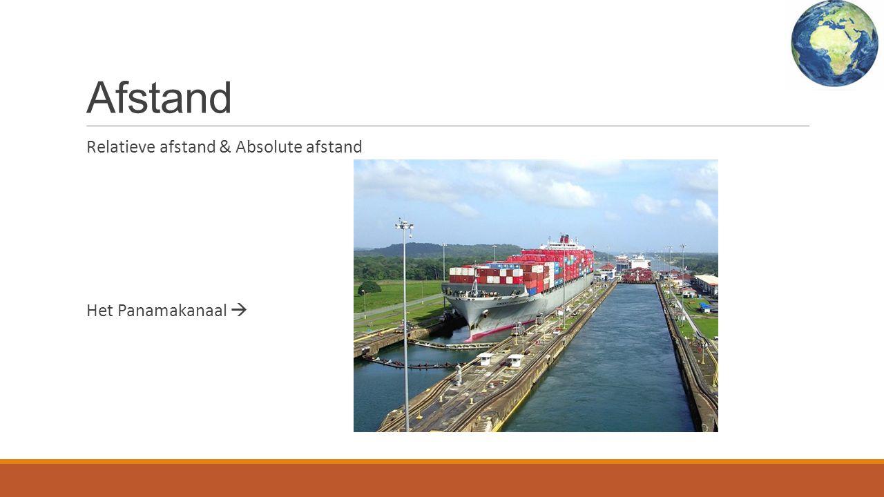 Afstand Relatieve afstand & Absolute afstand Het Panamakanaal 