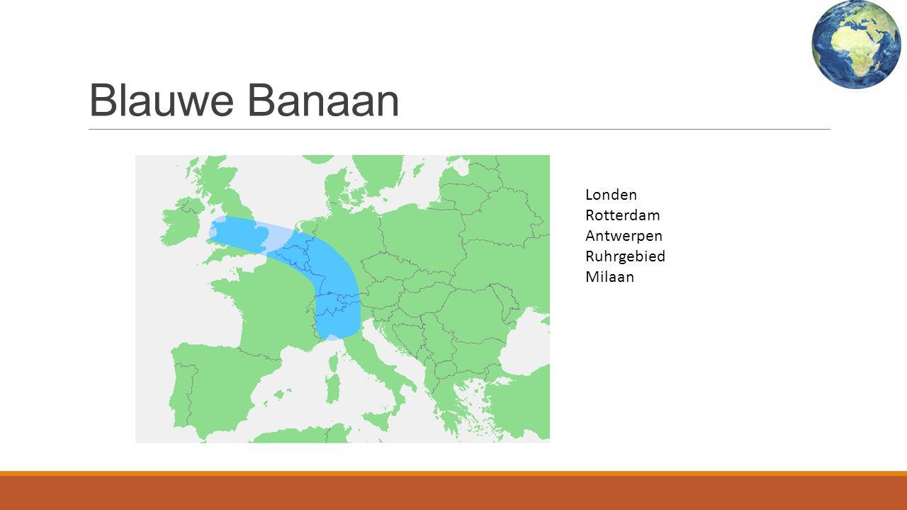 Blauwe Banaan Londen Rotterdam Antwerpen Ruhrgebied Milaan