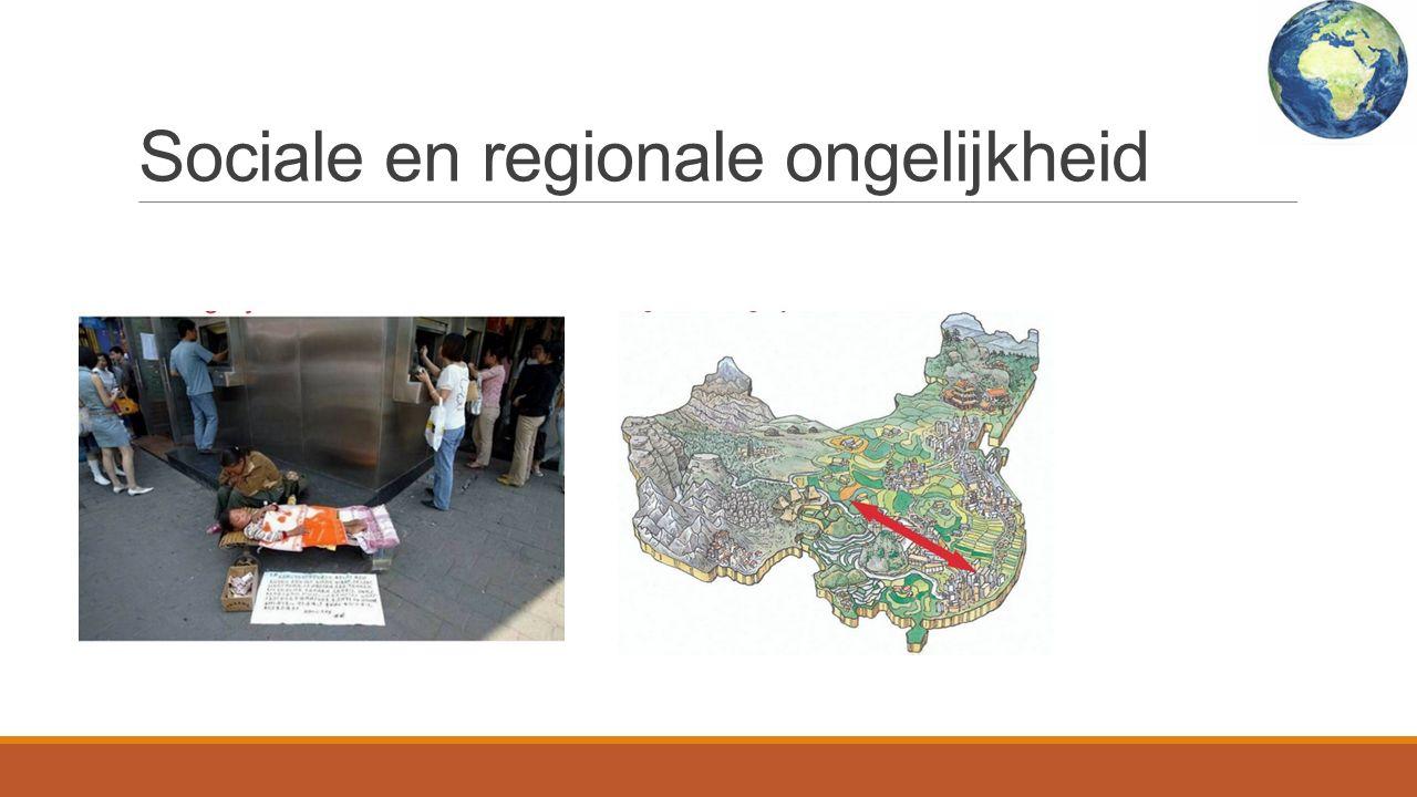 Sociale en regionale ongelijkheid