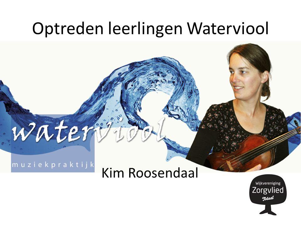 Optreden leerlingen Waterviool Kim Roosendaal