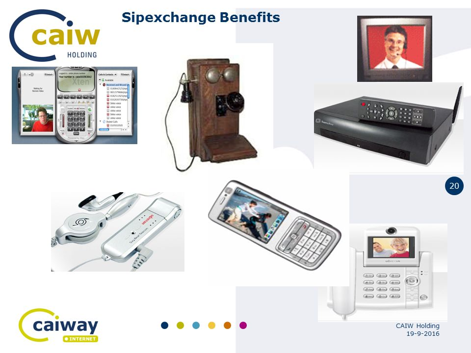 20 19-9-2016 CAIW Holding Sipexchange Benefits