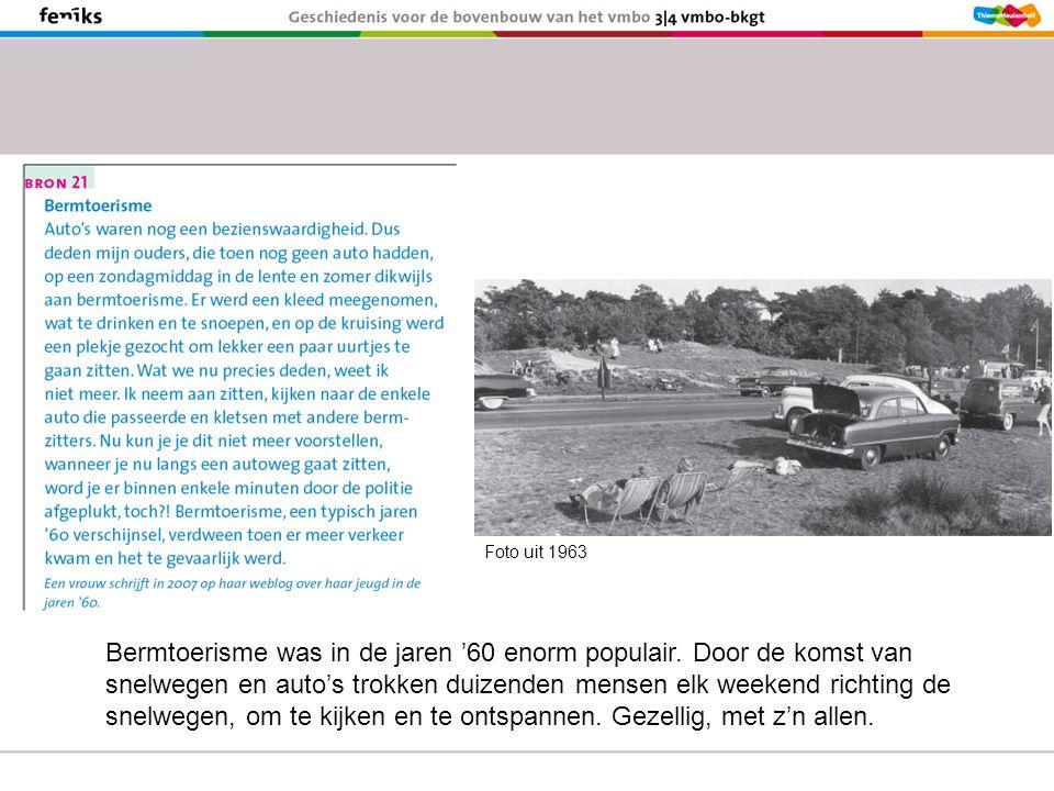 Bermtoerisme was in de jaren '60 enorm populair.