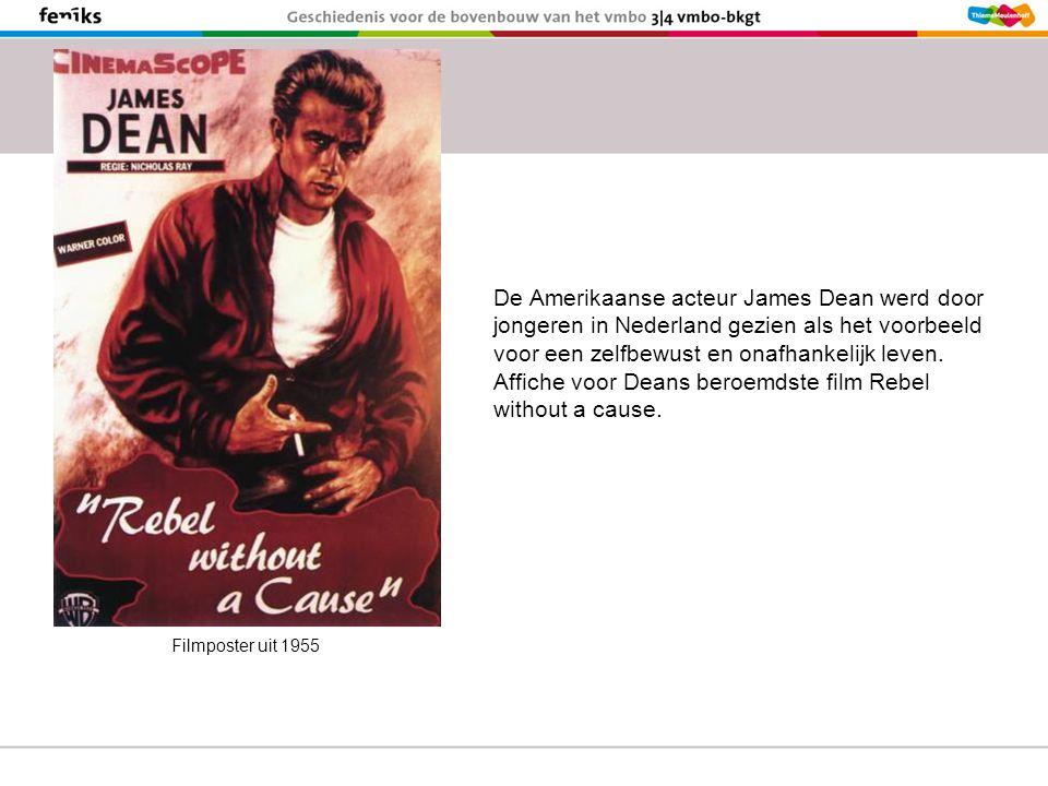 De Amerikaanse acteur James Dean werd door jongeren in Nederland gezien als het voorbeeld voor een zelfbewust en onafhankelijk leven.