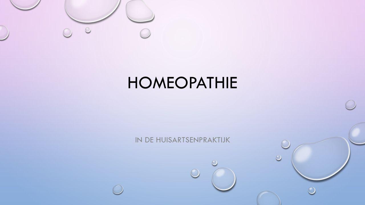 HOMEOPATHIE IN DE HUISARTSENPRAKTIJK