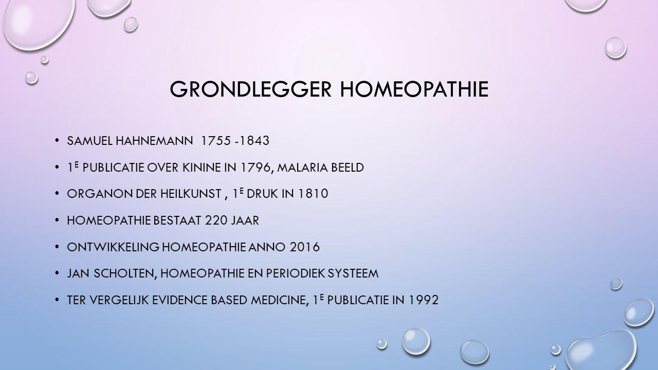 GRONDLEGGER HOMEOPATHIE SAMUEL HAHNEMANN 1755 -1843 1 E PUBLICATIE OVER KININE IN 1796, MALARIA BEELD ORGANON DER HEILKUNST, 1 E DRUK IN 1810 HOMEOPAT