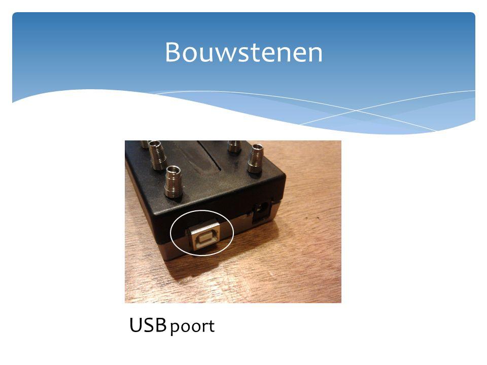 Bouwstenen USB poort