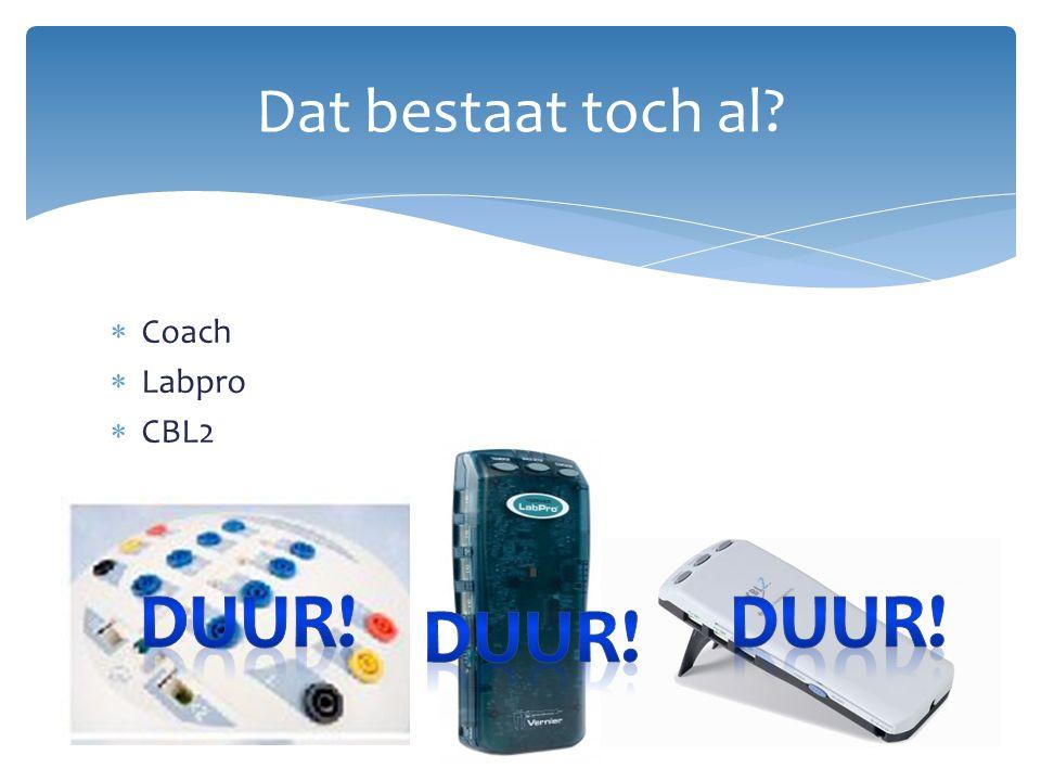  Coach  Labpro  CBL2 Dat bestaat toch al