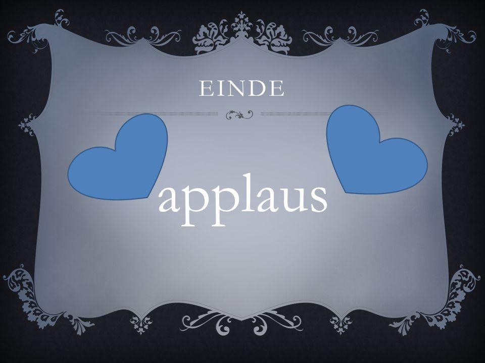 EINDE applaus