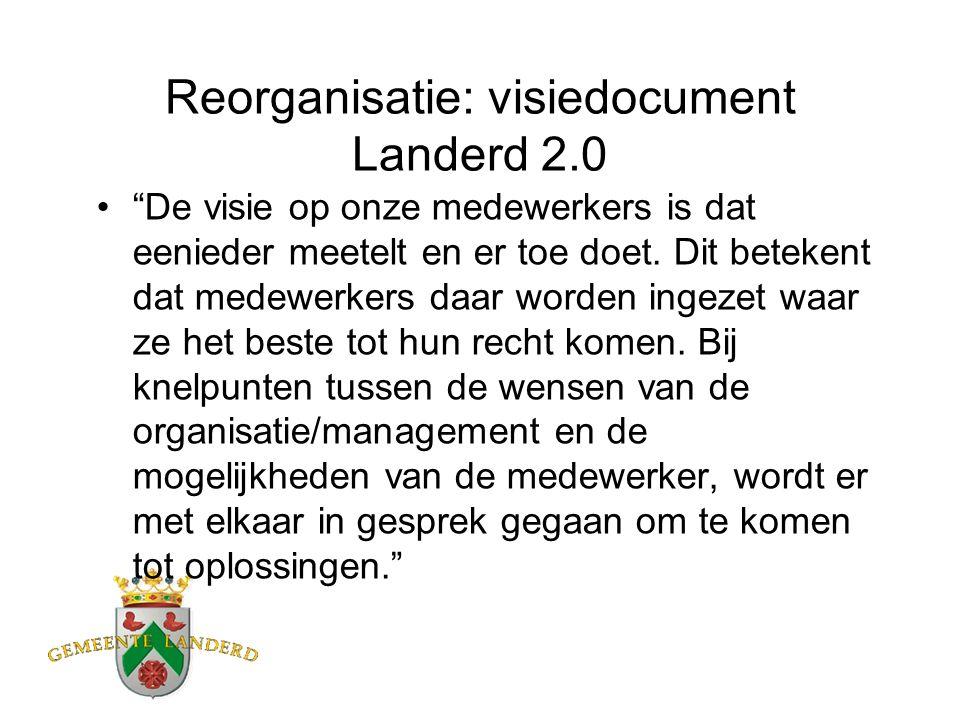 Reorganisatie: visiedocument Landerd 2.0 De visie op onze medewerkers is dat eenieder meetelt en er toe doet.