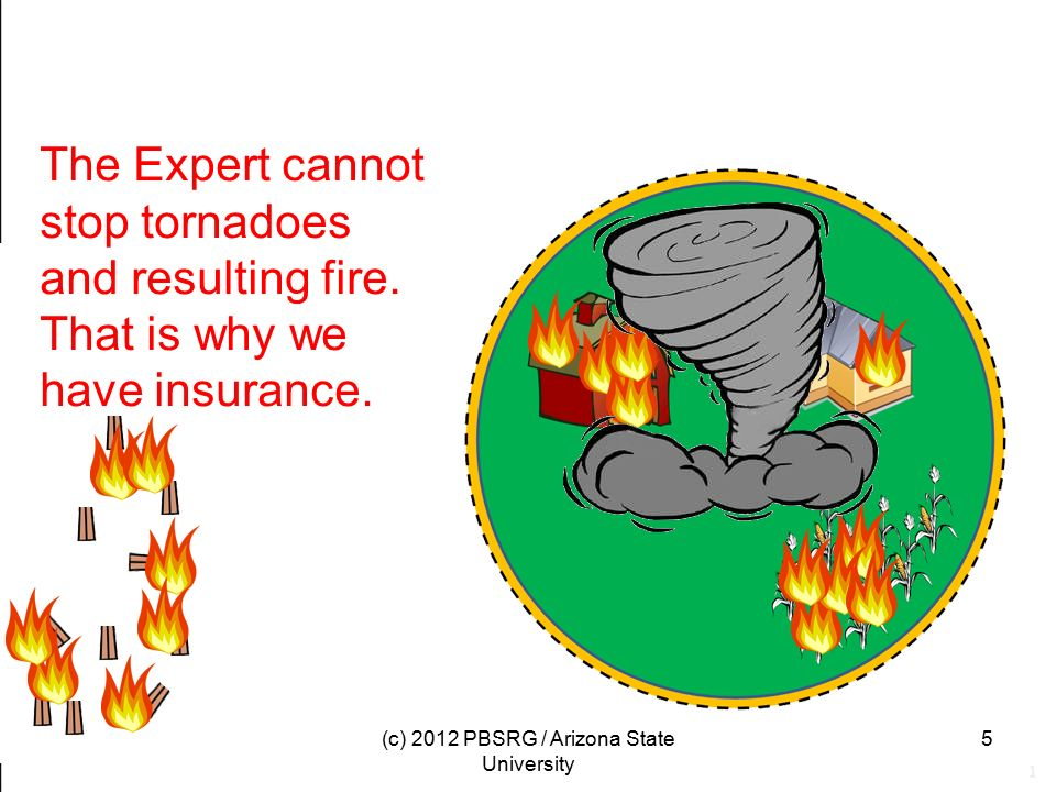 The Expert cannot stop tornadoes and resulting fire.