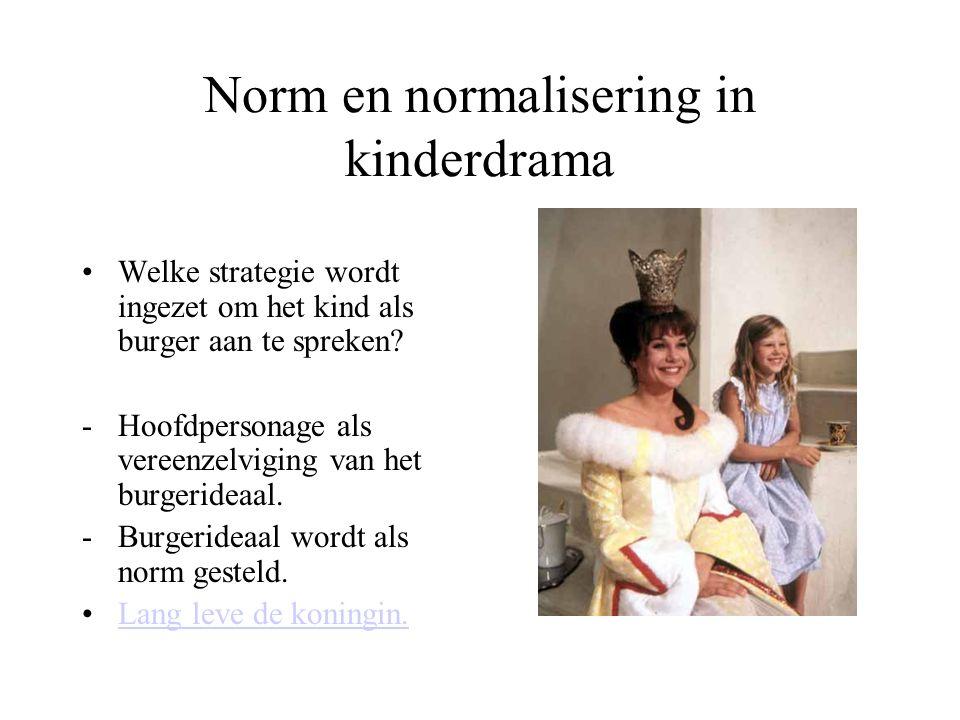Norm en normalisering in kinderdrama Welke strategie wordt ingezet om het kind als burger aan te spreken.