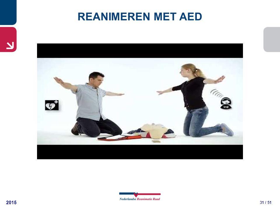 2015 31 / 51 REANIMEREN MET AED
