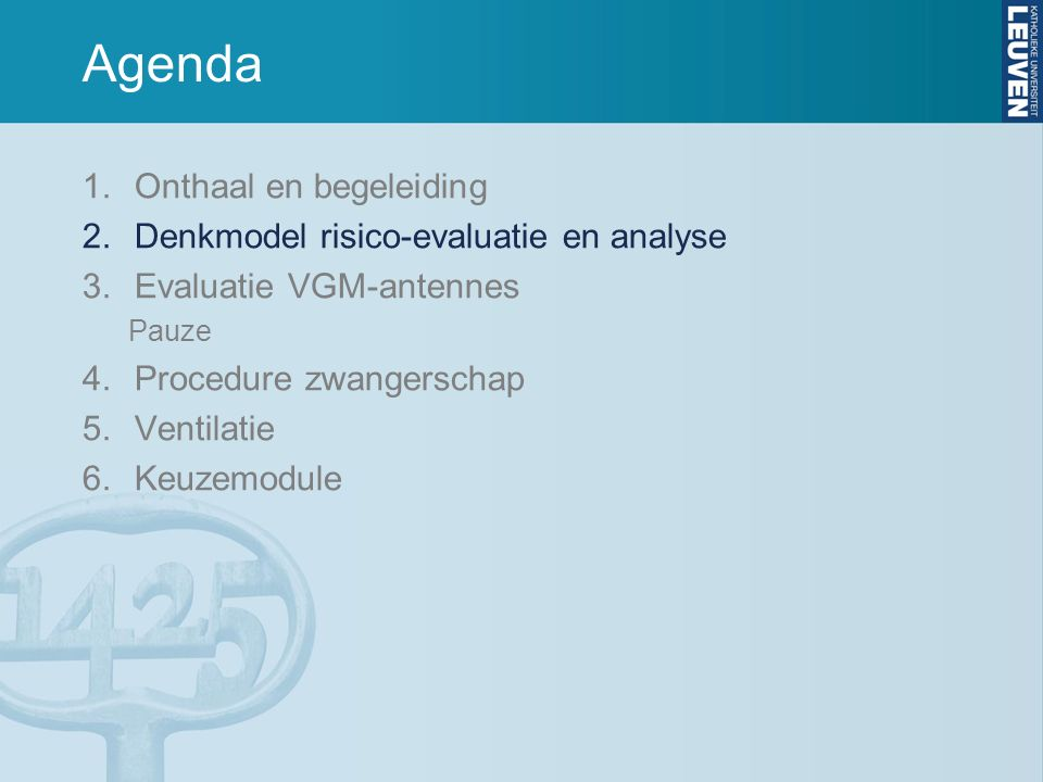2 Inhoud 1.Doel risico-evaluatie en analyse 2.Denkproces 3.Rol formulieren en proces 4.Toekomstige verbeteringen: Uw mening?