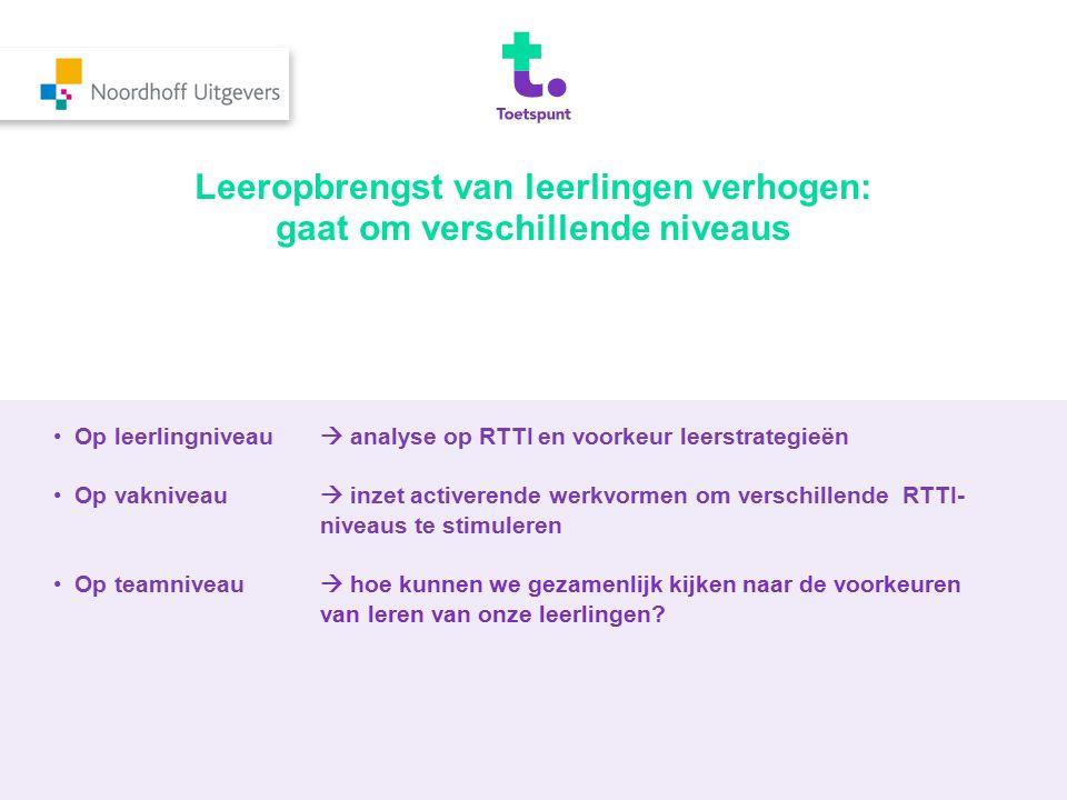 Algemene handvatten: wat te doen bij lage scores op RTTI.