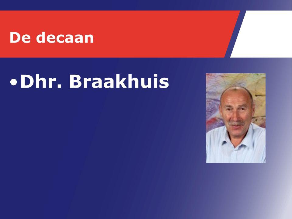 De decaan Dhr. Braakhuis
