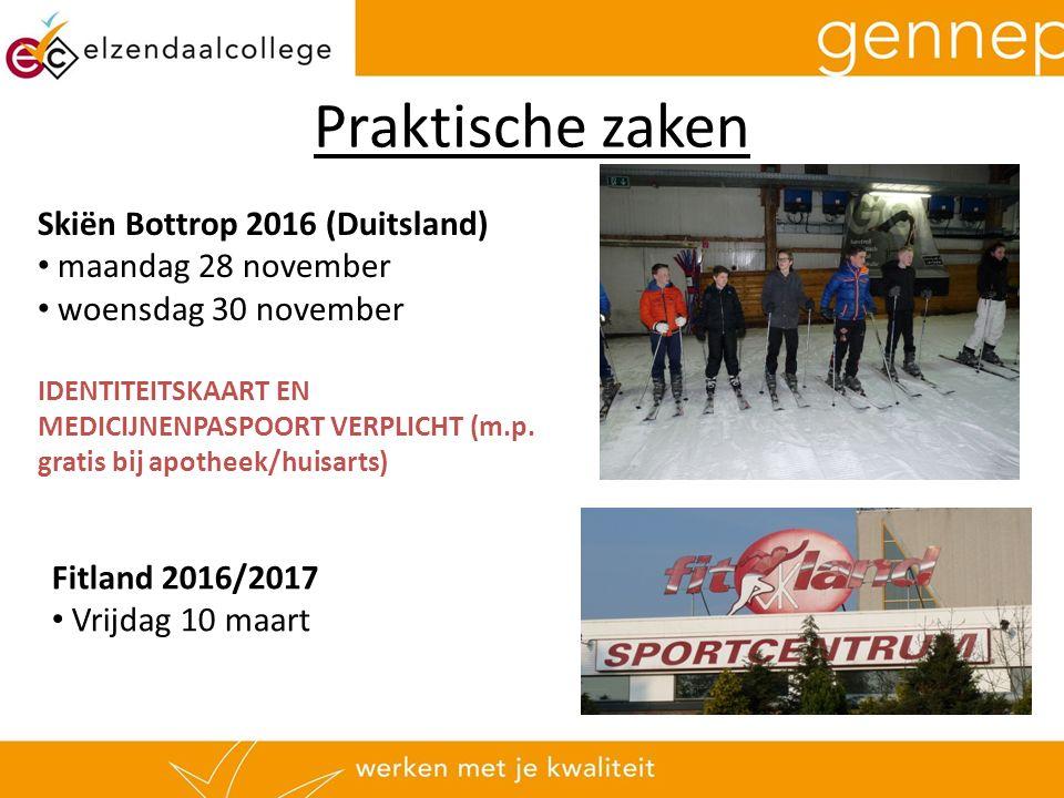 Skiën Bottrop 2016 (Duitsland) maandag 28 november woensdag 30 november IDENTITEITSKAART EN MEDICIJNENPASPOORT VERPLICHT (m.p.