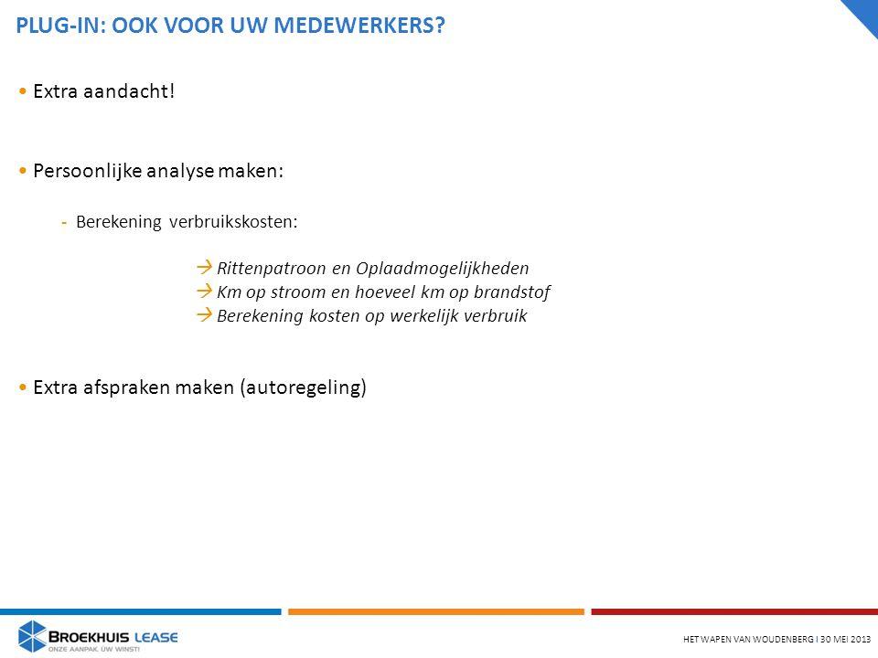 PLUG-IN: OOK VOOR UW MEDEWERKERS. HET WAPEN VAN WOUDENBERG l 30 MEI 2013 Extra aandacht.