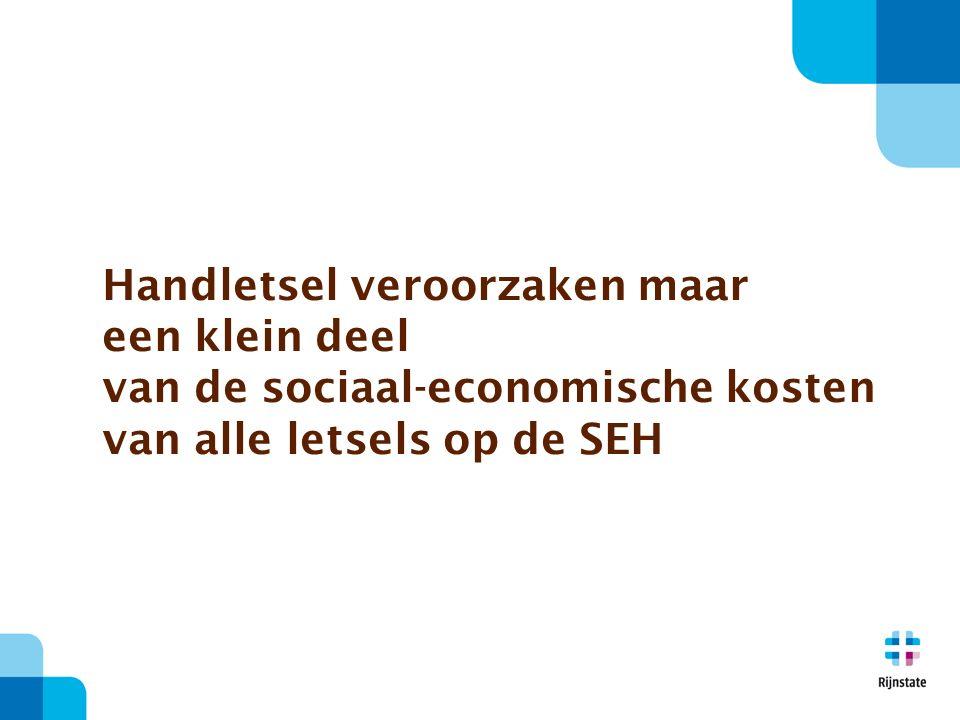 Handletsel veroorzaken maar een klein deel van de sociaal-economische kosten van alle letsels op de SEH